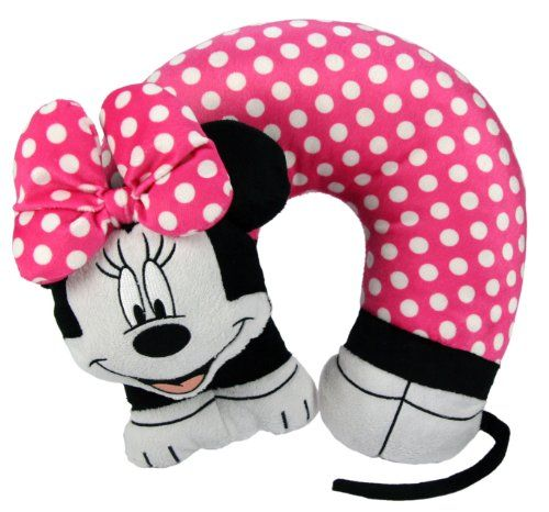 Best Travel Pillows For Long Haul Travel - Disney Minnie Mouse 3D Character Travel Pillow