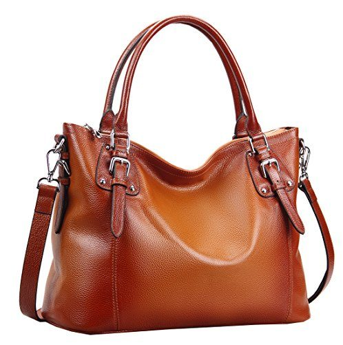 Heshe Women's Leather Vintage Shoulder Handbag