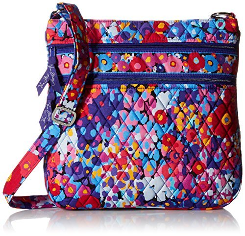 Vera Bradley Triple-Zip Hipster Crossbody Purse