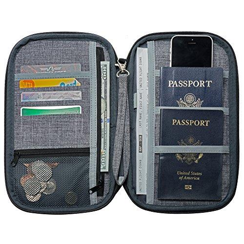 Black Travel Underwear Pouch 1 Pack Wallet Passport Money Cash Document Safe Keep Carry Holder