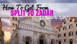 How to get from Split to Zadar & Zadar to Split