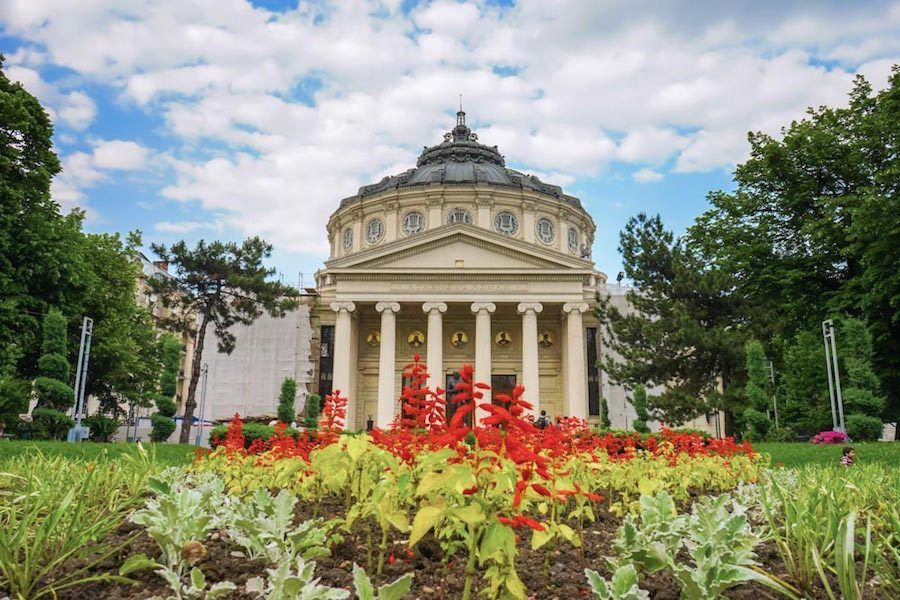 Bucharest Tours_Romanian Athenaeum Exterior_Wandertooth