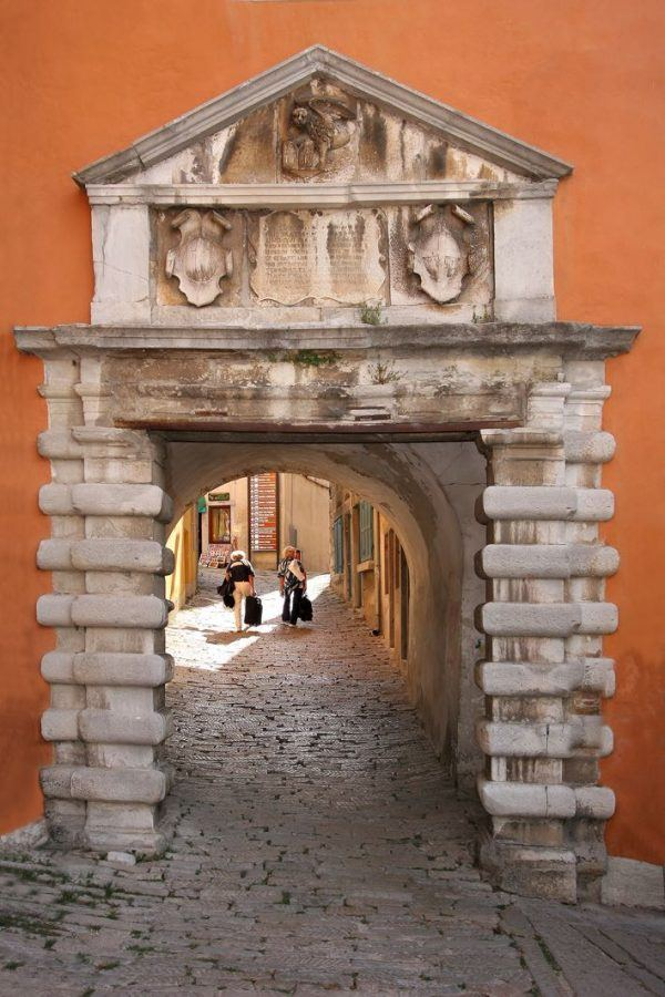 Things to do in Labin Croatia - Labin old city_main town door of St Flor