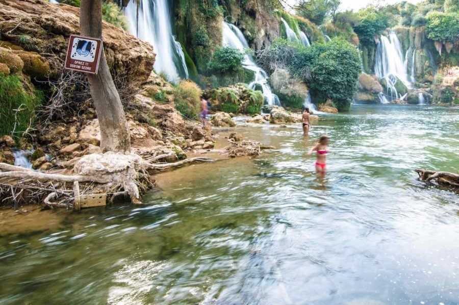 Swimming-at-Kravice Waterfalls - Travel Blog