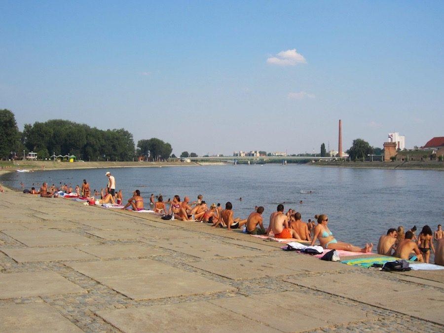 Things to do in Osijek Croatia - Drava River Sunbathers - Croatia Travel Blog