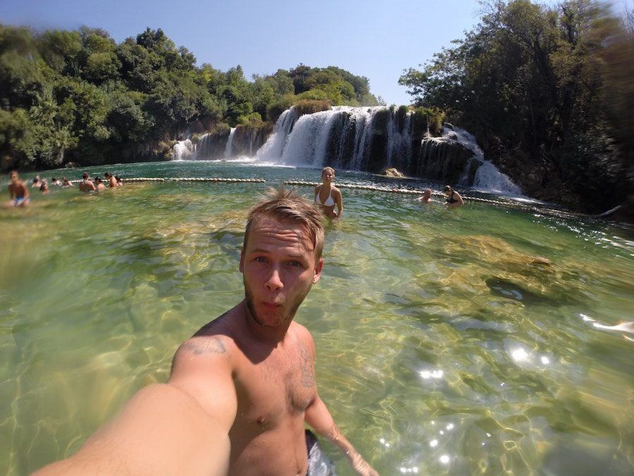 Things to do in Croatia_Day Trip to Krka National Park_Krka Waterfalls Swimming Area