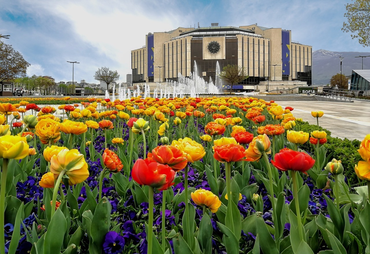 Things to do in Sofa, Bulgaria - Garden in front of the National Palace of Culture,