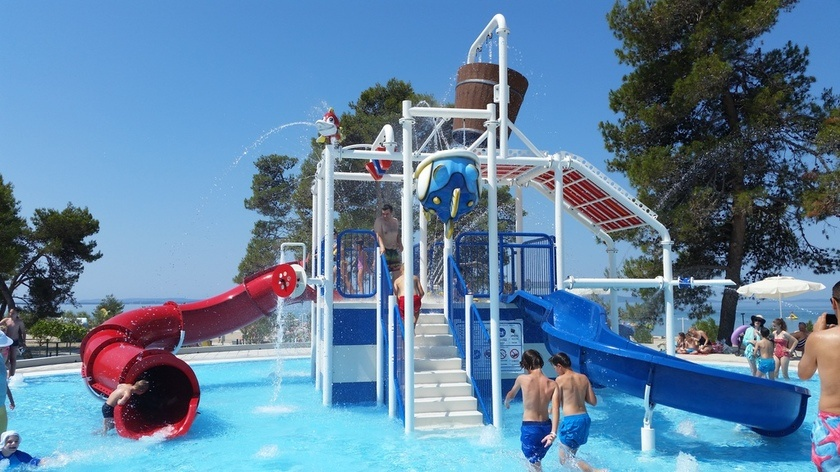 Croatia Travel Blog_Backpacking with Kids in Croatia_Holiday Resort Splash Pad