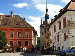 Road Trip From Bucharest_Sighisoara_square