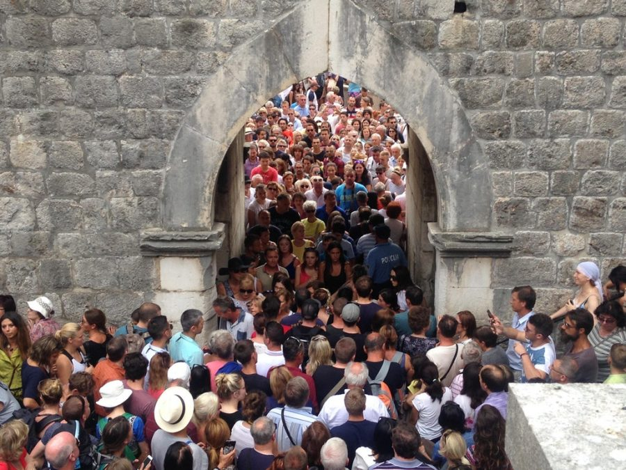 Time in Dubrovnik Crowds