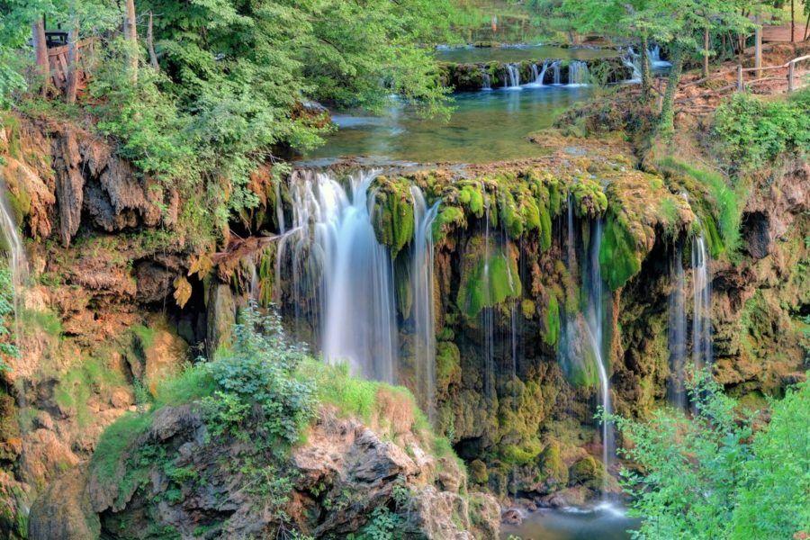Waterfalls in Croatia - Waterfall in Rastoke, Croatia.