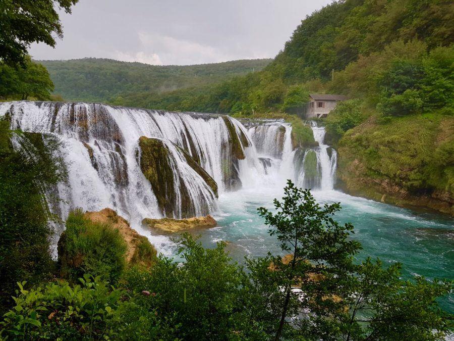 Strbacki Buk Waterfall Una National Park Rain