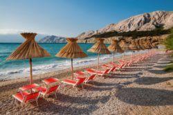 Baska Beach Krk Island - Croatia Travel Blog
