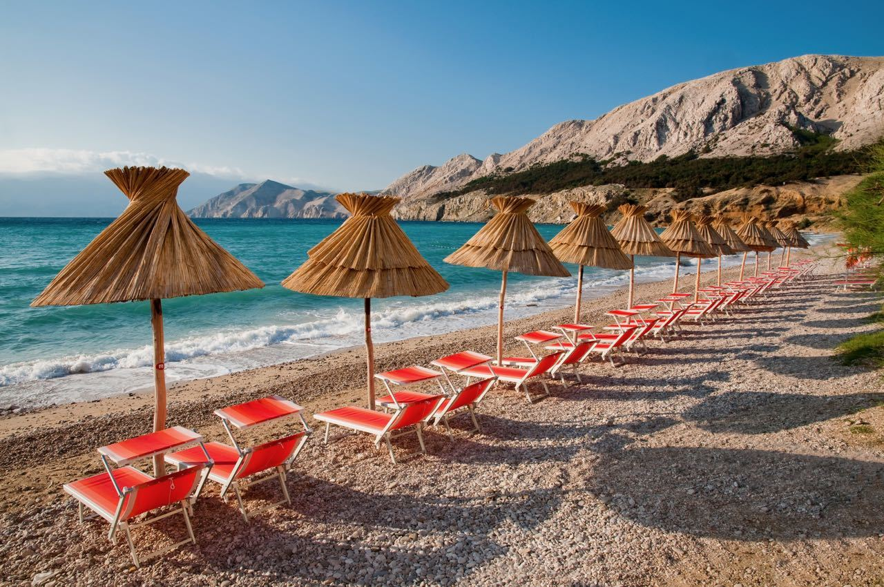 Baska Beach Krk Island - Croatia Travel Blog
