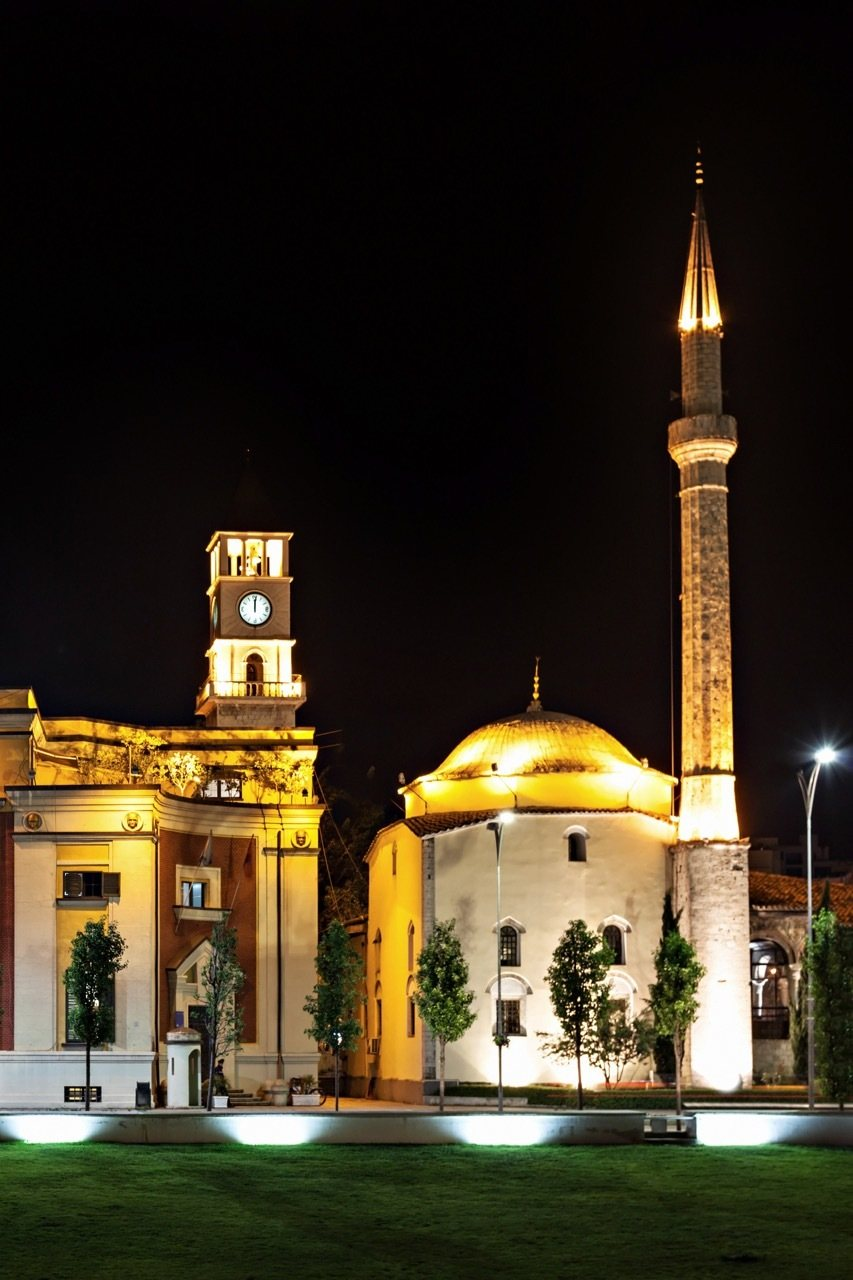 THINGS TO DO IN TIRANA, ALBANIA - Clock Tower and Mosque in the center, Tirana, Albania