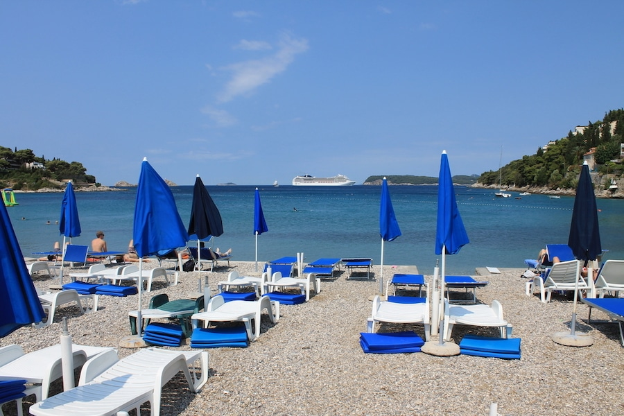 Best Dubrovnik Beaches - Uvala Lapad Beach Dubrovnik