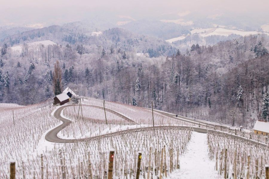 Štajerska_HEART SHAPED ROAD SLOVENIA - WINTER IN SLOVENIA