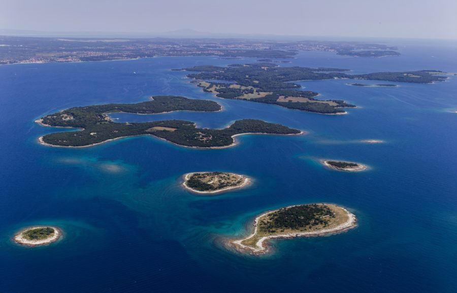 Aerial view of Brijuni Islands
