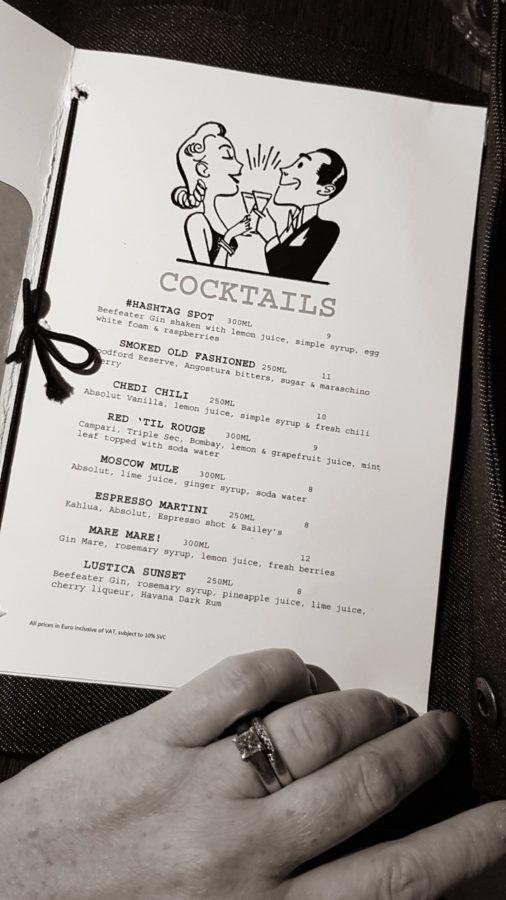 The Chedi Lustica Bay_Cocktail Meni