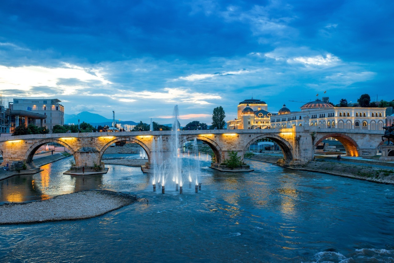 Best Hotels In Skopje - View on Stone bridge from Oko bridge in Skopje