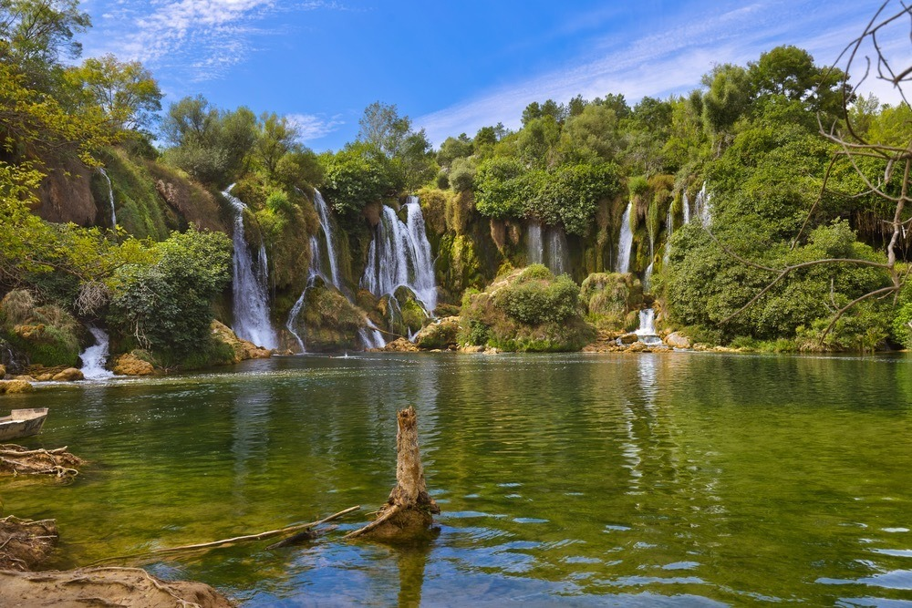 Kravice waterfall in Bosnia and Herzegovina