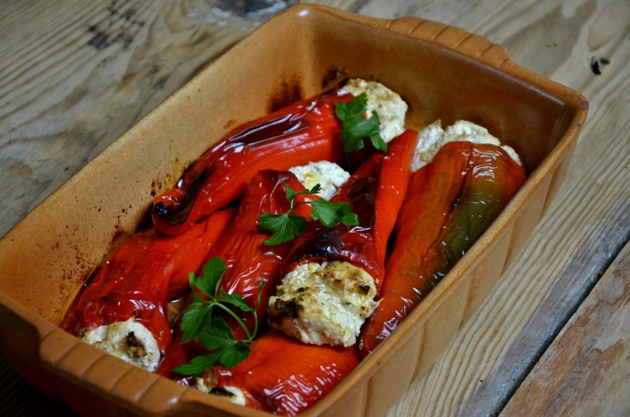 Macedonian traditional food in Macedonia_Stuffed Peppers