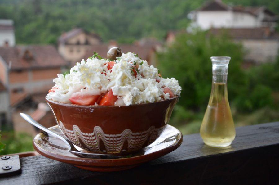 Macedonian traditional food in Macedonia_Shopska Salad