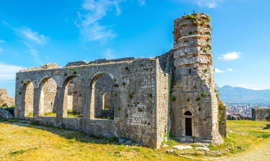 Best Castles In Albania - Old church in Rozafa castle ruins near Shkodra city
