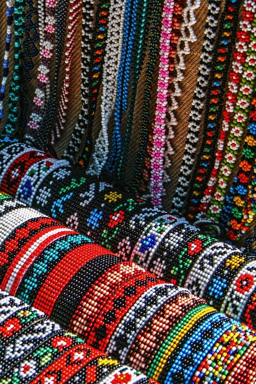 Souvenirs in Romania - Beads From Maramures, Romania.