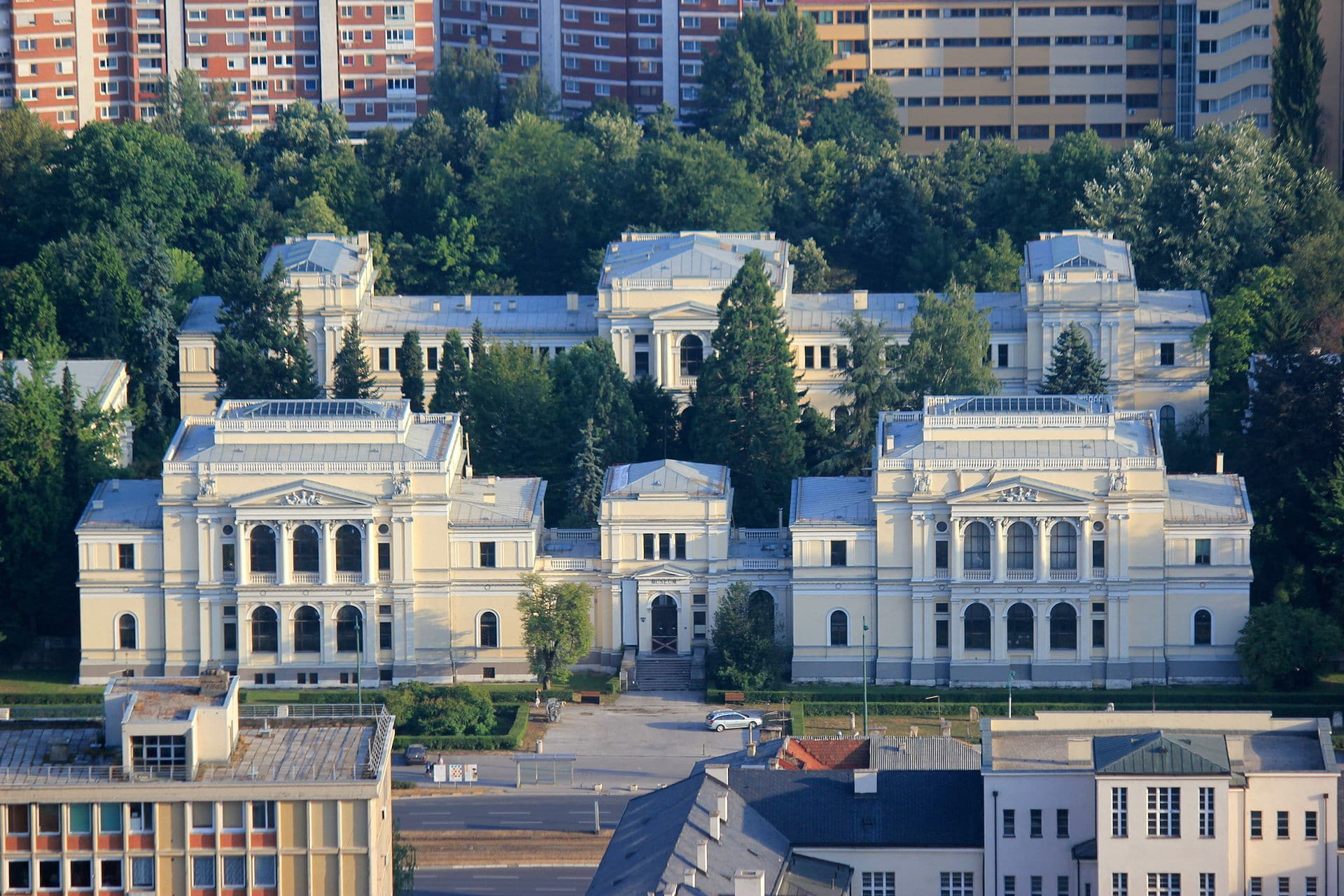 Best Museums In Sarajevo - National_Museum_of_BiH_Aerial