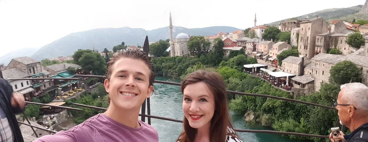 Selfie from Mostar Bridge