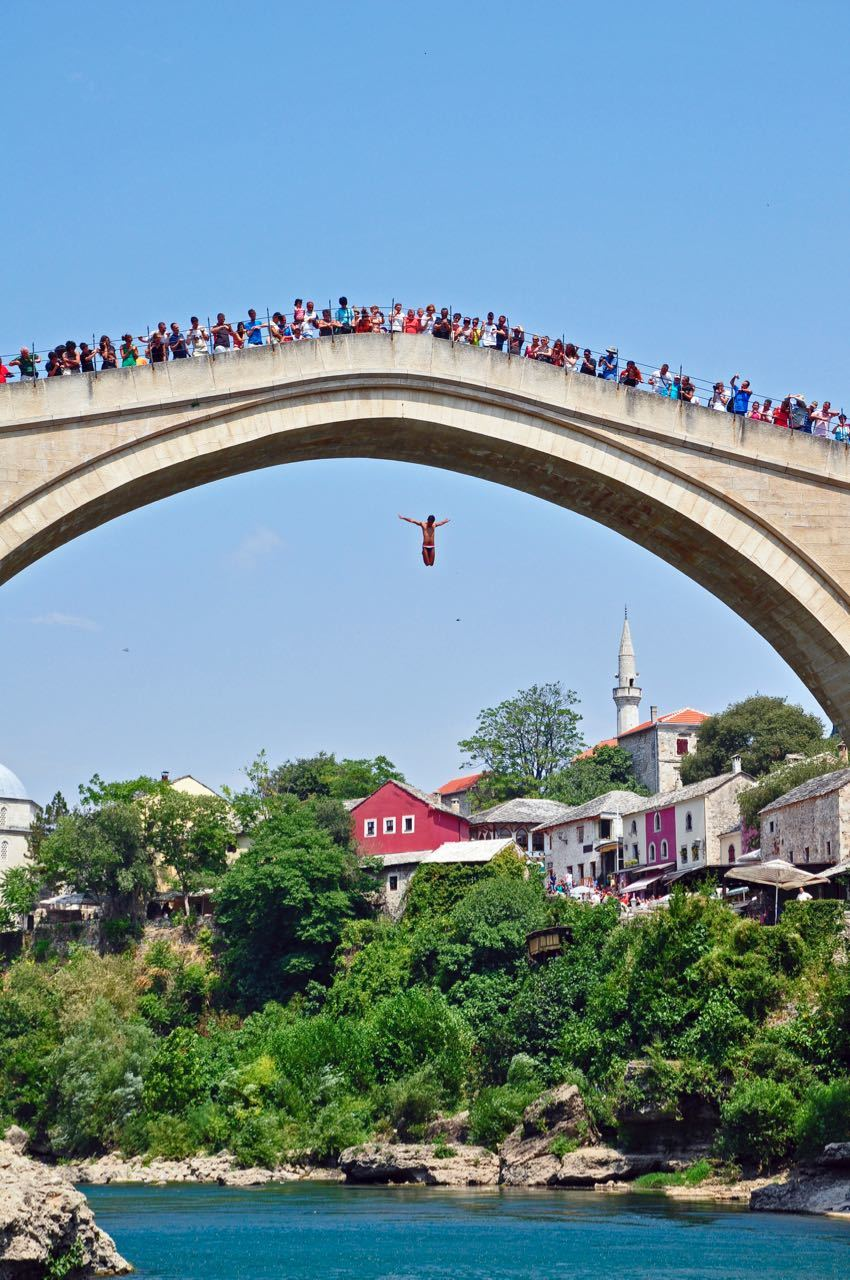 Stari Most_Mostar Bridge Jump_Old bridge, Mostar