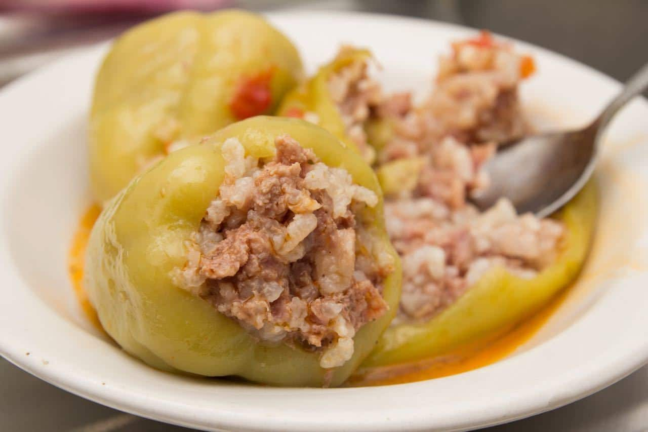 Kosovo Food_stuffed peppers