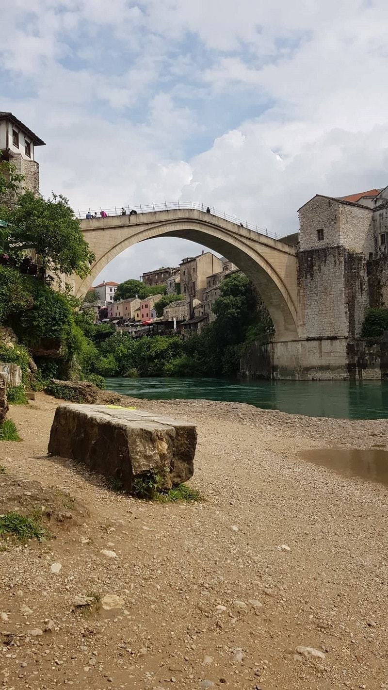 Where to film Mostar Bridge jump from