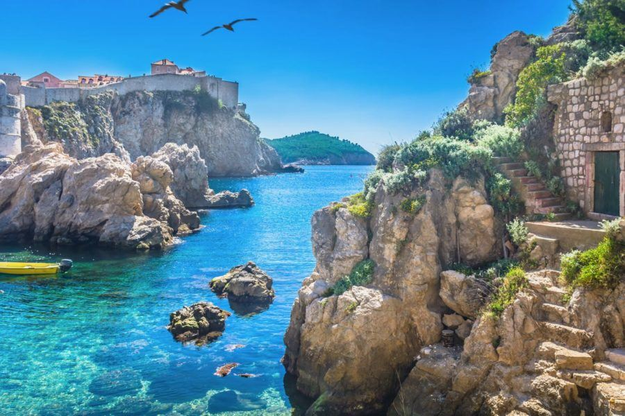 Game of Thrones Croatia - Adriatic sea Dubrovnik Pile West Harbor - Blackwater Bay Shore