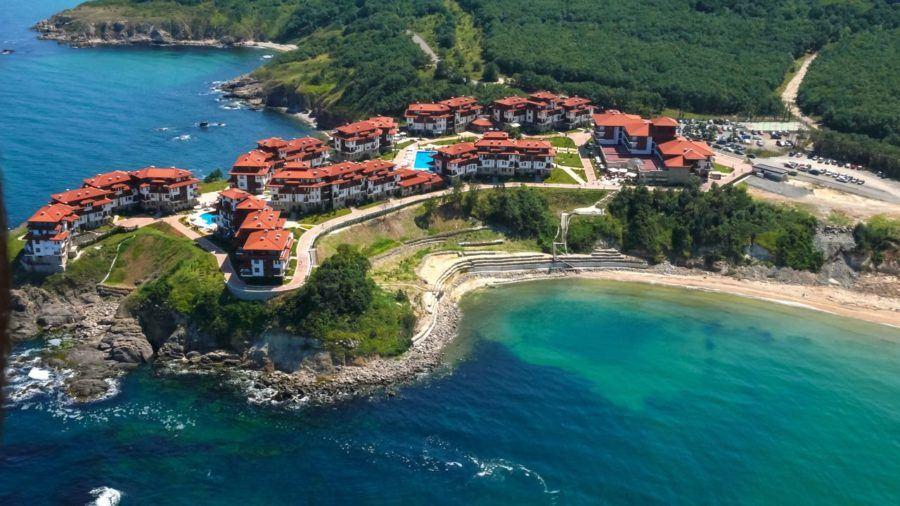 Aerial View Arkutino Region Resort Dyuni Burgas Region Bulgaria