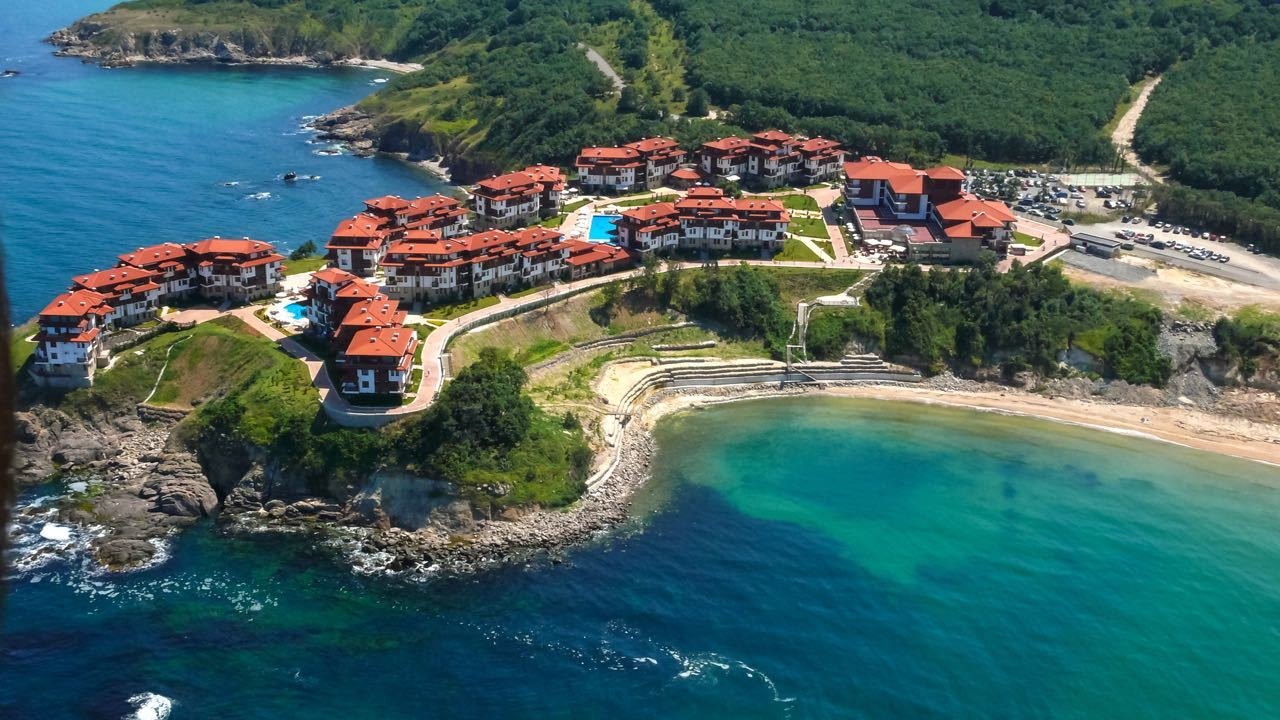 Aerial View Arkutino Region Resort Dyuni Burgas Region Bulgaria