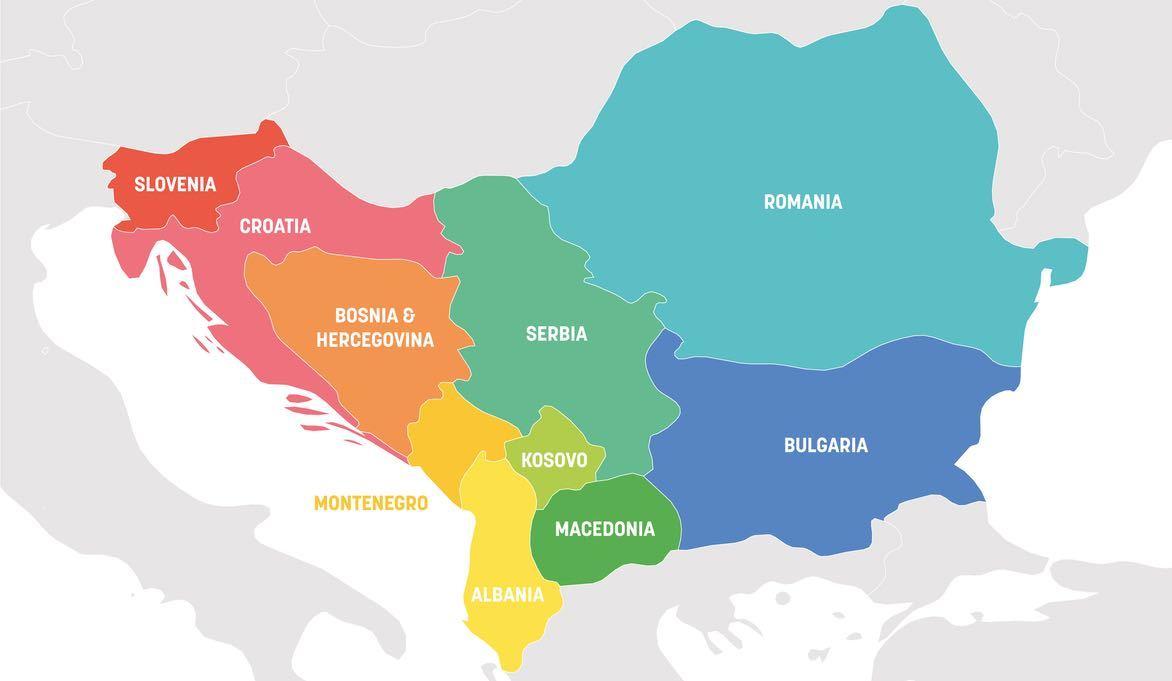 Map Of Balkan Countries: Balkan Countries List