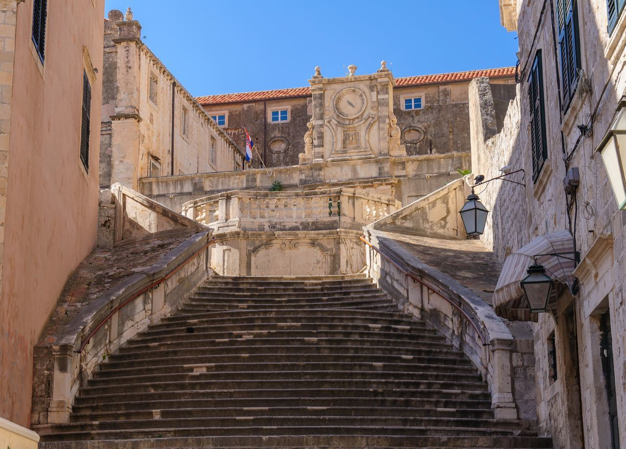 Games of Thrones Locations Croatia - Dubrovnik Jesuit Church staircase
