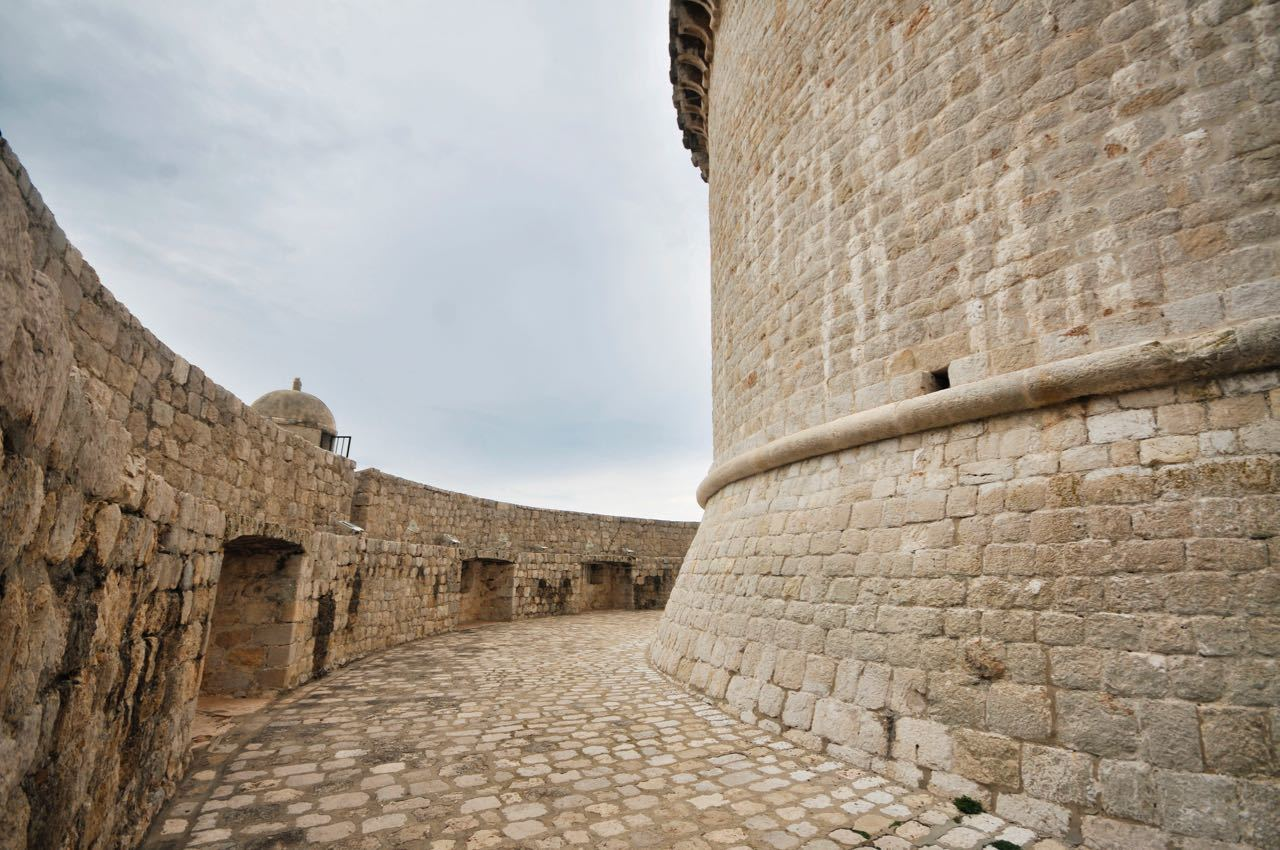 Dubrovnik old town city walls. Minceta Tower - Game of Thrones
