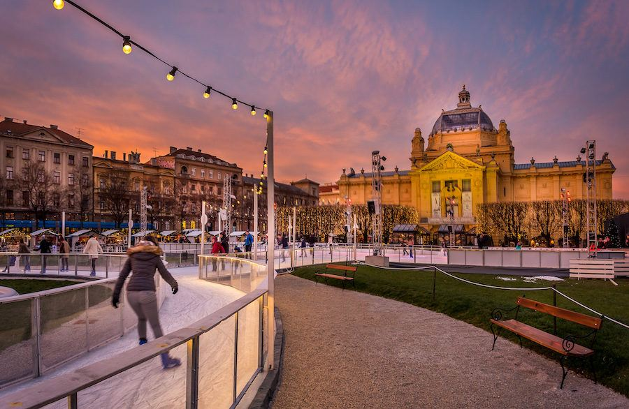 Advent In Zagreb Christmas_ Ice Skating