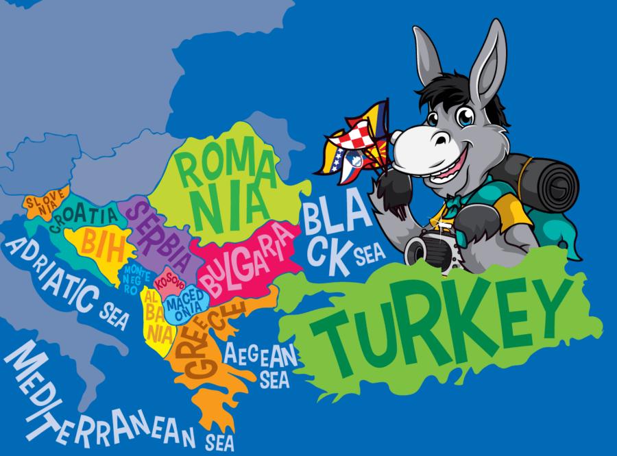 Balkans Map Of The Balkans_Blue