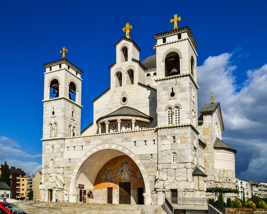 Balkan Trip: One Month In The Balkans Itinerary - Cathedral of the Resurrection of Christ in Podgorica, Montenegro