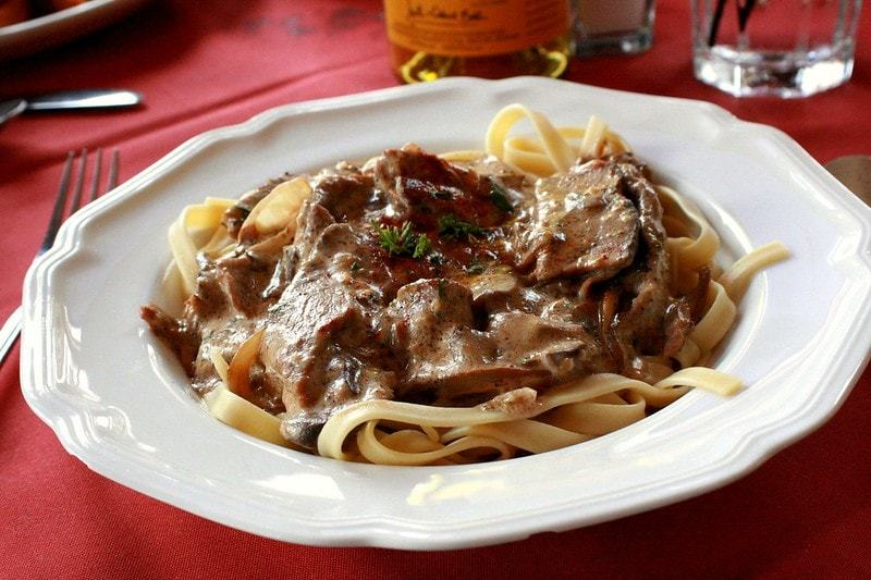 Russia Travel Blog_What to Eat in Russia_Beef Stroganoff