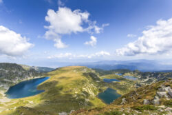 Amazing panorama of The Seven Rila Lakes, Rila Mountain