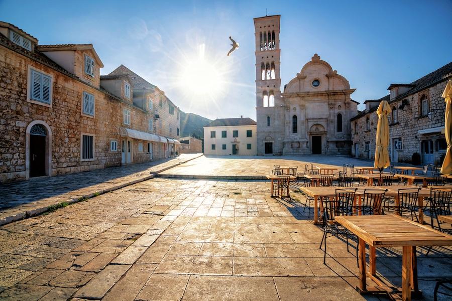 1 Day On Hvar - Street view of Hvar Town in Croatia
