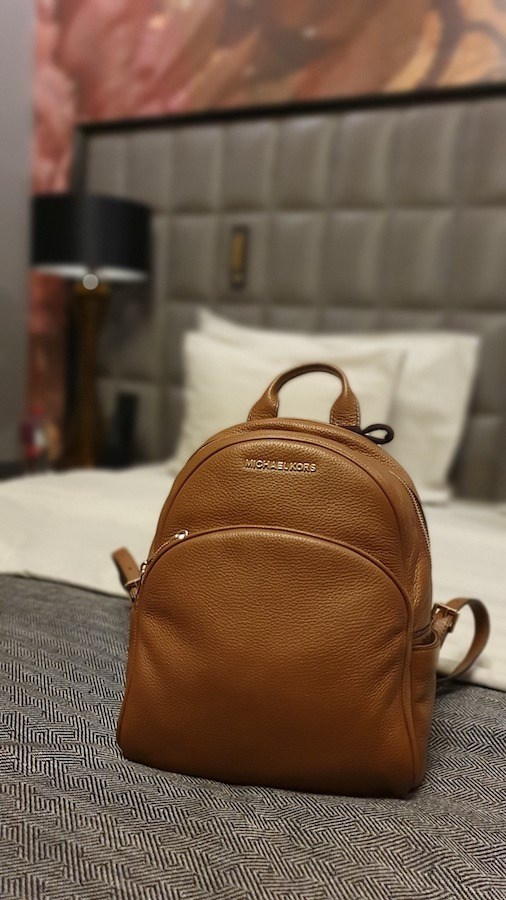 Long Haul Flight Outfit - Michael Kors Backpack