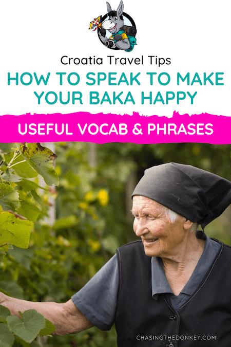 Croatia Travel Blog_How To Speak Croatian_How To Speak To Make Your Baka Happy