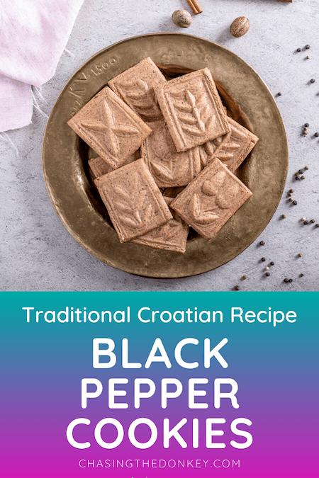 Croatian Cooking_Black Pepper Cookies Recipe