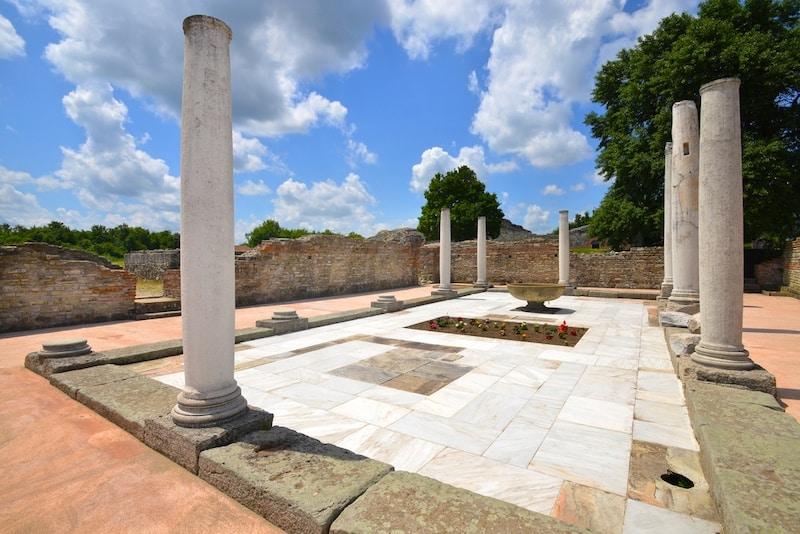Serbia UNESCO - Felix Romuliana, ancient Roman emperor Galerius palace Serbia UNESCO